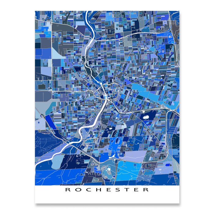 Rochester Map Print, New York, USA