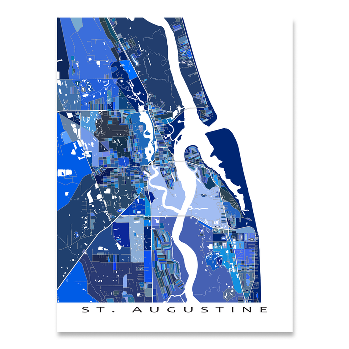 St. Augustine Map Print, Florida, USA