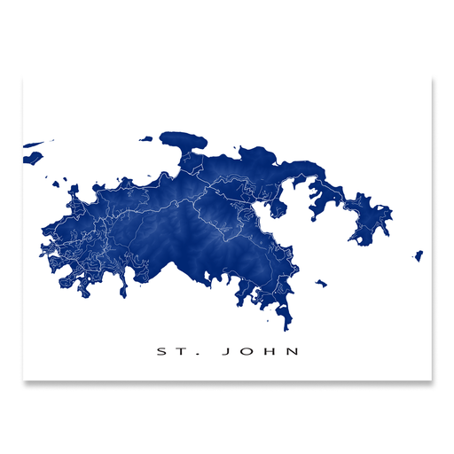 St. John Map Print, USVI, Colors