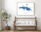St. Thomas USVI map print with wooden bench home decor by Maps As Art.