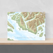 Sunshine Coast, BC, Canada map print with natural landscape and main roads designed by Maps As Art.