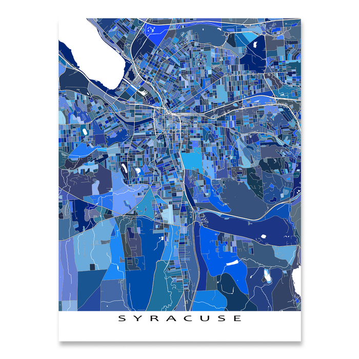 Syracuse Map Print, New York, USA