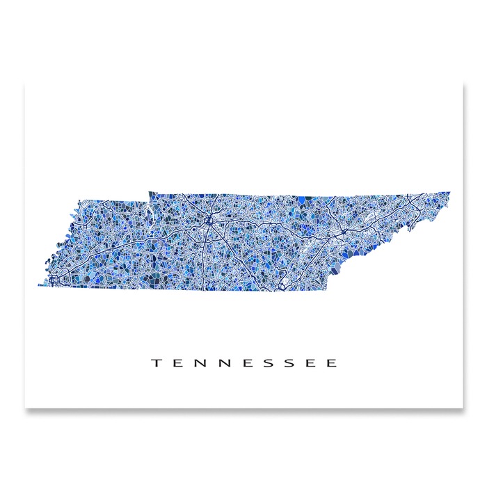 image regarding Printable Maps of Tennessee named Tennessee Map Print, TN Region