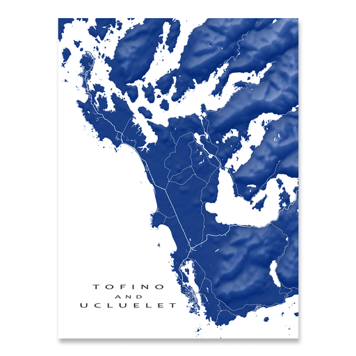 Tofino and Ucluelet Map Print, Canada