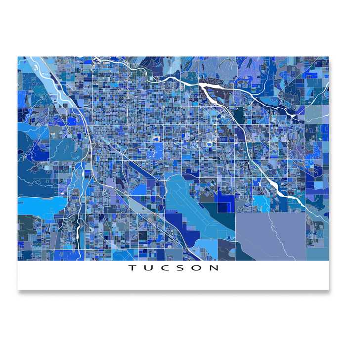 Map Of Usa Arizona.Tucson Map Print Arizona Usa