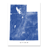 Utah Map Print, USA State, UT