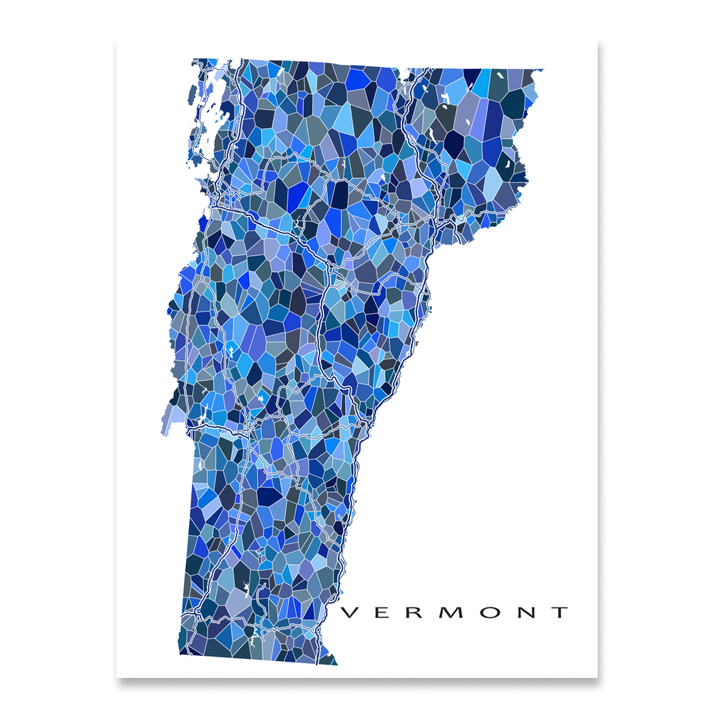 Vermont Map Print, VT State