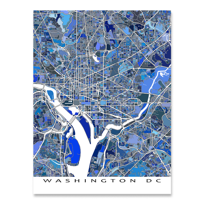 Washington DC Map Print, USA