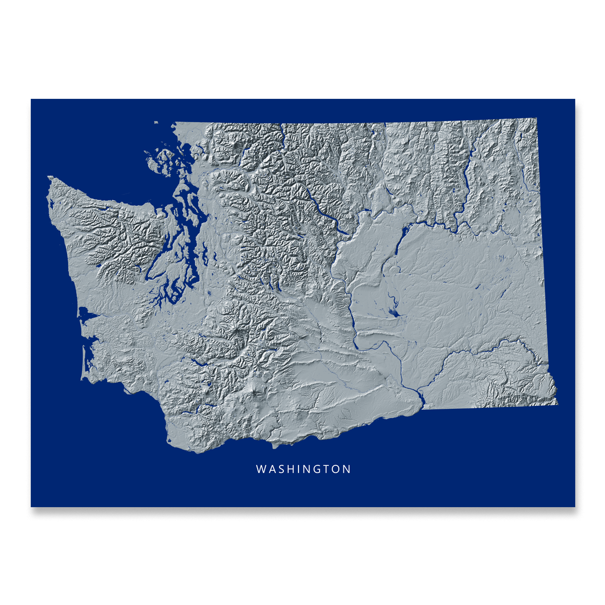 photograph relating to Printable Maps of Washington State titled Washington Map Print, Military services Landscape