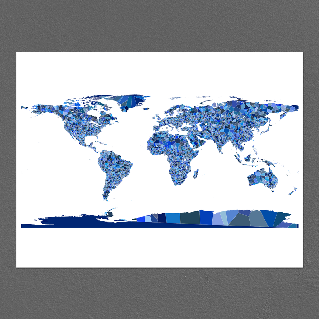 World map print countries blue earth maps as art world map print countries blue earth gumiabroncs Image collections