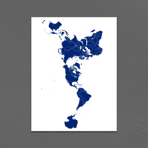 World Map Print, Map of the World