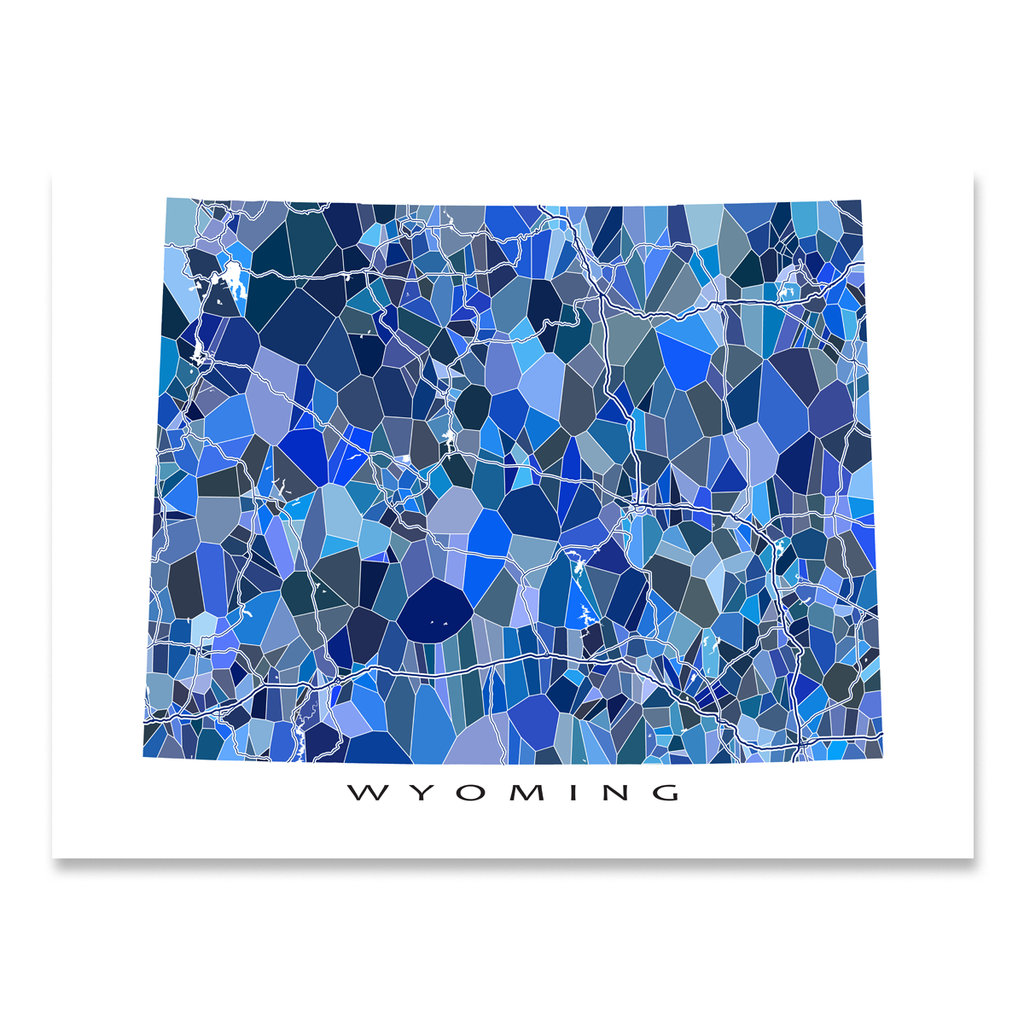 Wyoming Map Print, WY State