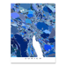 Zurich, Switzerland map art print in blue shapes designed by Maps As Art.