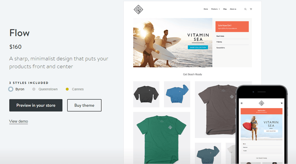 Shopify Byron theme