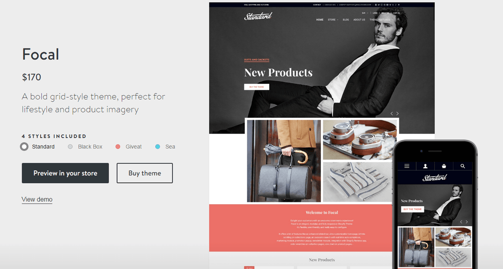 Shopify Focal theme