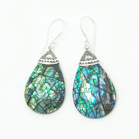 Abalone Sterling Silver Inlay Earrings