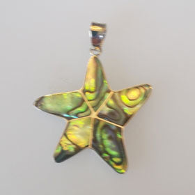 Abalone Starfish Pendant Set in Sterling Silver