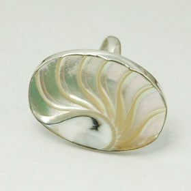 Akar Shell Sterling Silver Ring