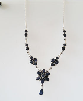 Iolite Multi-stone Necklace in Sterling Silver