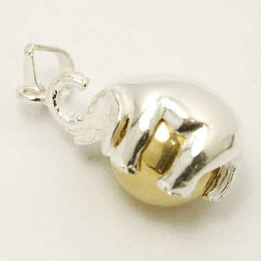 Harmony Ball Elephant in Sterling Silver with Brass Ball Chime