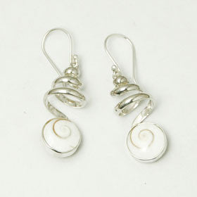 Eye of Shiva Spring Sterling Silver Earrings