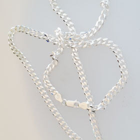 Sterling Silver Curb Chain Med