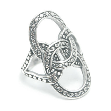 Sterling Silver Intertwined Circles Ring