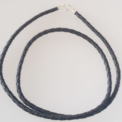 Black Braided Cord Necklace