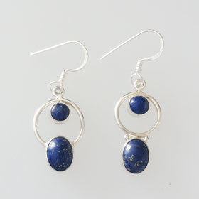 Lapis Multi-Stone Sterling Silver Earrings