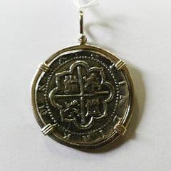 Atocha Sterling Silver Coin Replica Pendant Larger