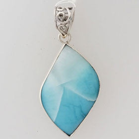 Larimar Unique Sterling Silver Pendant