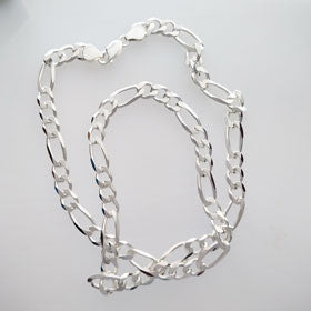 Sterling Silver Figaro Chain XL
