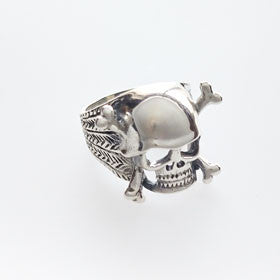 Sterling Silver Skull and Crossbones Pirate Ring