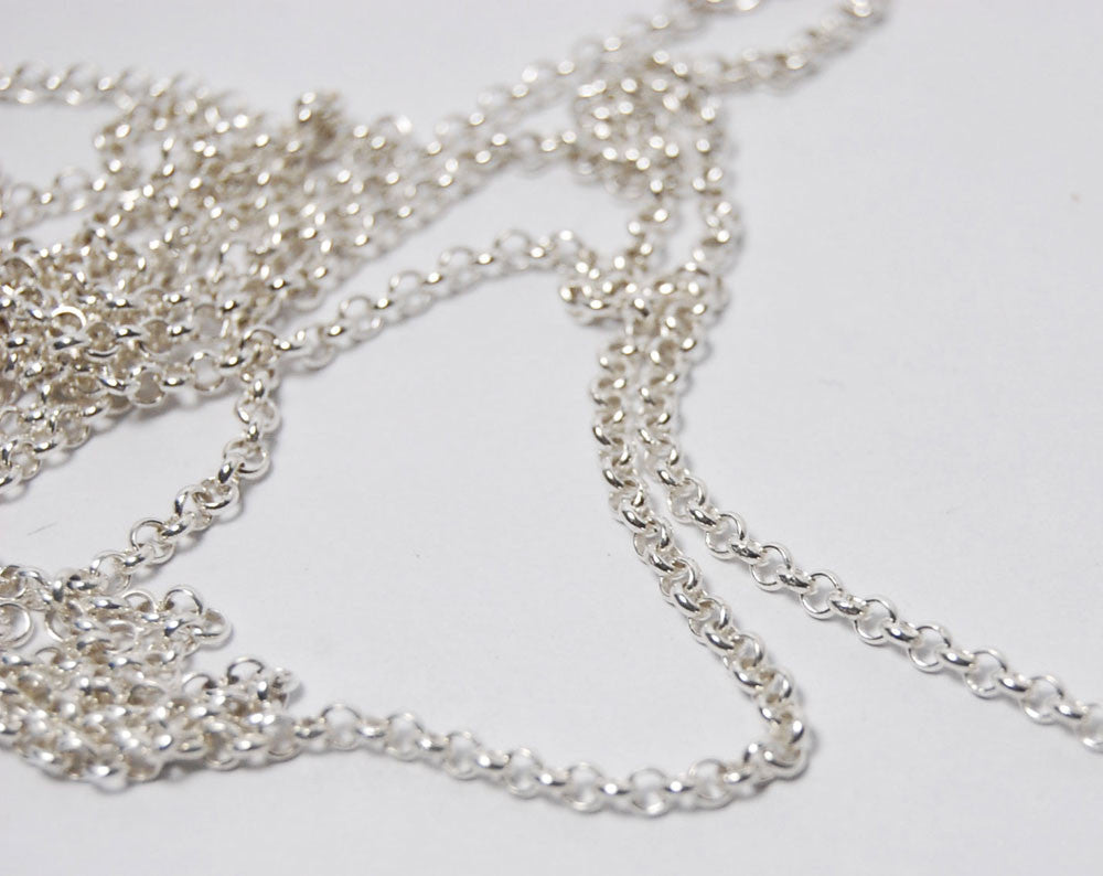 Chain Rolo in Sterling Silver
