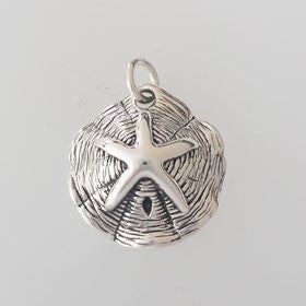 Sterling Silver Starfish Sand Dollar Pendant