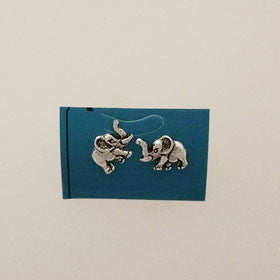 Sterling Silver Elephant Post Earrings