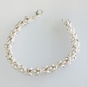 Sterling Silver Intertwined Knots Bracelet