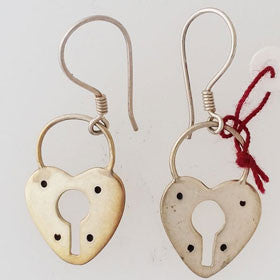 Sterling Silver Lock Earrings
