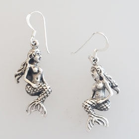 Sterling Silver Mermaid Earrings