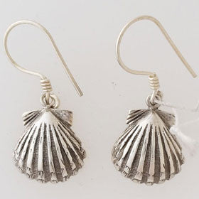 Sterling Silver Sea Shell Earrings