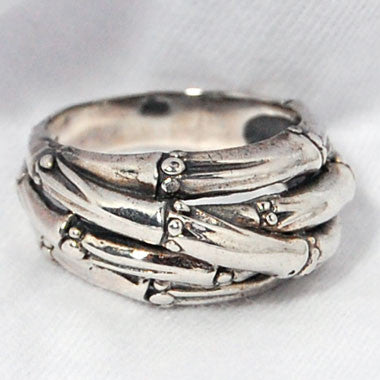 Sterling Silver Bamboo Ring
