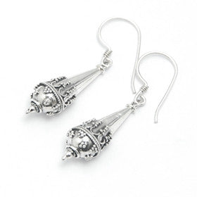 Sterling Silver Balinese Drop Earrings