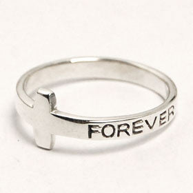 Sterling Silver Forever Cross Ring