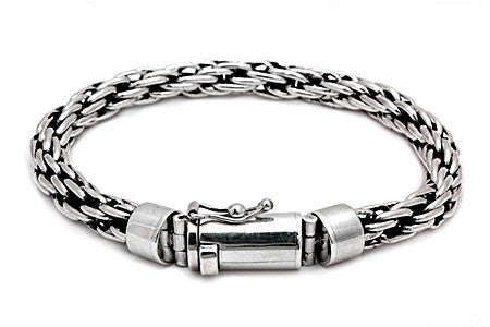 Sterling Silver Open Weaved Chain Bracelet