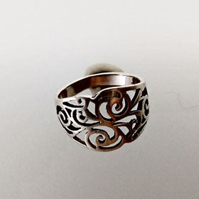 Sterling Silver S-Curls Ring