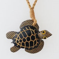 Wood Handcarved Turtle Necklace