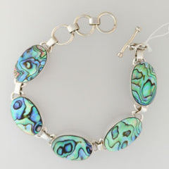 Abalone Bracelet Set in Sterling Silver