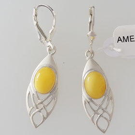 Butterscotch Earrings Set in Sterling Silver