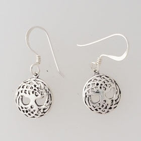 Sterling Silver Celtic Tree of Life Earrings Small