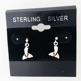 Sterling Silver Dolphin Tail Post Earrings